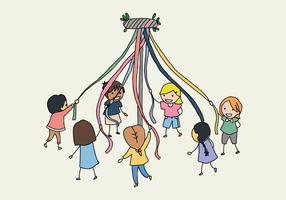 Kids With A Maypole