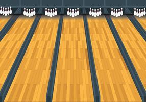 Free Bowling Lane Vector Background