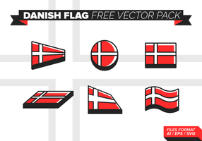 Danish Flag libre Pack Vector