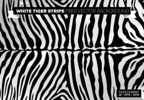 White Tiger Stripe Gratis Vector Achtergrond
