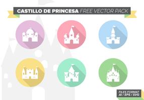 Castillos de Princesa gratuito Pacote Vector