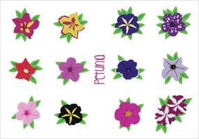 Los vectores de flores brillantes