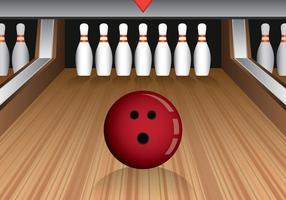 Bowling Lane Ilustração
