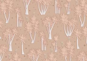 Yucca Pattern Brown Color Vector
