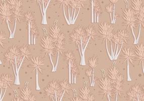 Yucca-Muster Brown Farbe Vektor