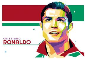 Cristiano Ronaldo Vektor WPAP