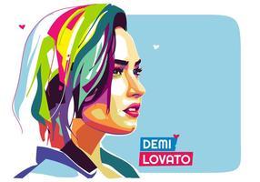 retrato Demi Lovato vector Popart