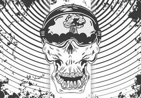 Kamikaze Skull Vector