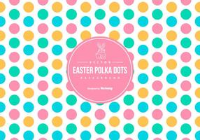 Cute Colorful Easter Polka Dot Background vector