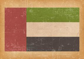 United Arab Emirates Flag on Grunge Background