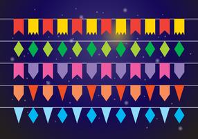 Festa coloridas Bunting Bandera de Vectores