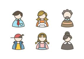 Beautiful Family Avatar Vectors