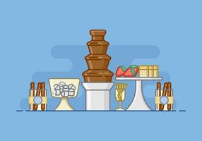 Baby Shower Fountain Chocolate Illustration