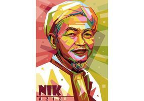Vector Nik Aziz WPAP
