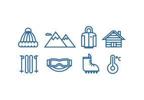 Winter Mountain Icon Vectors