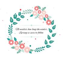 Free Vector Spring Flower Wreath