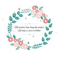 Vector libre de la guirnalda de flores de primavera