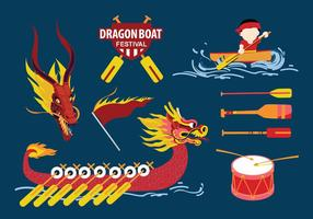 Dragon Boat Festival Stuff Pack Vector