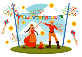Illustration vectorielle Festa Junina