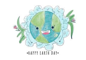 Cute-and-happy-cartoon-world-with-flowers-earth-day