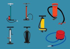 Air Pump Set Vector