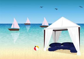 Cabana Sunny Day Gratis Vector