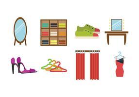 Omklädningsrum Flat Icon vektorer