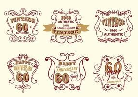 Vintage Label Scroll Vector Pack