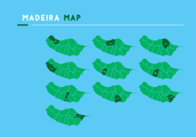Madeira mapa vectorial