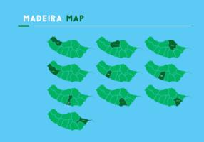 Madeira Karta Vector