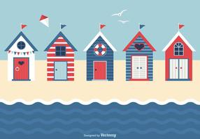 Nautical Beach Huts Vector