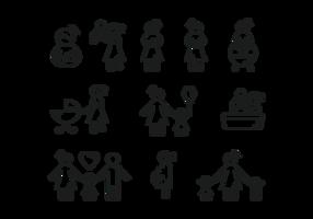 Ícones maternidade Vector