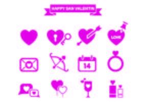 San Valentin Icône Pack Vector