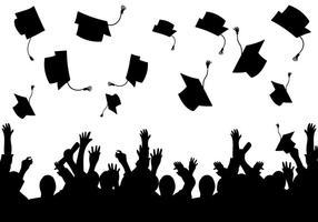 Graduation background vector silhouette