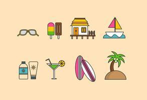 Planos de la playa Vectores