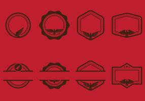 Águila sello Stempel emblemas con copyspace Vectores