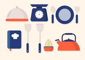 Wohnung Küchenzubehör Vektor
