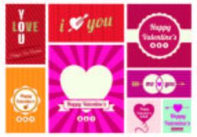 Vectores de tarjetas de felicitación del día de San Valentín