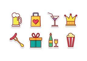 Conjunto de ícones do festival