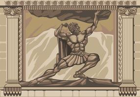 Hercules Standbeeld Gevel Vector