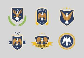 Eagle Seal Logo Vector