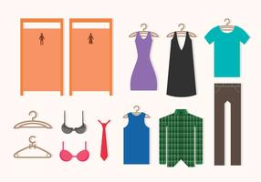 Dressing Room Icons vector