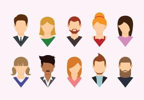 Headshot Flat Icons vector