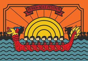 Dragon Boat Festival Illustration Vector