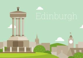 Edinburgh Flache Landschaft Free Vector