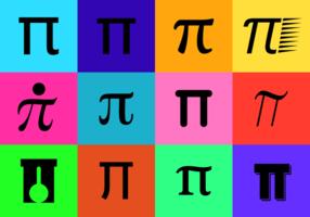 Zwarte Symbool van Pi Vector