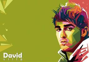 David Villa Vector WPAP