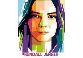 Kendall Jenner Vector WPAP