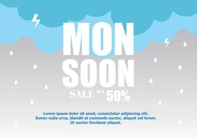 Monsoon Vector Sale Background