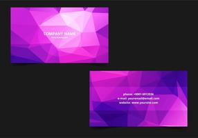 Free Vector Polygonal Business card Template